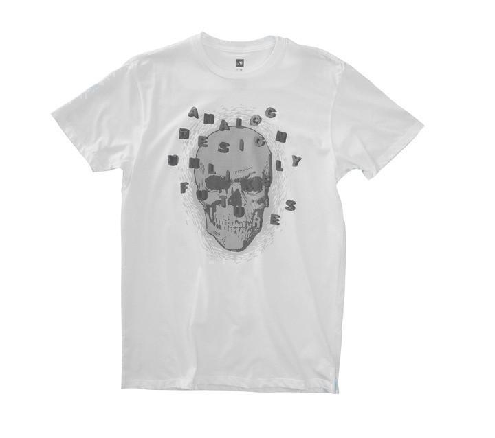 Koszulka Analog Alpha Skull Slim (White)