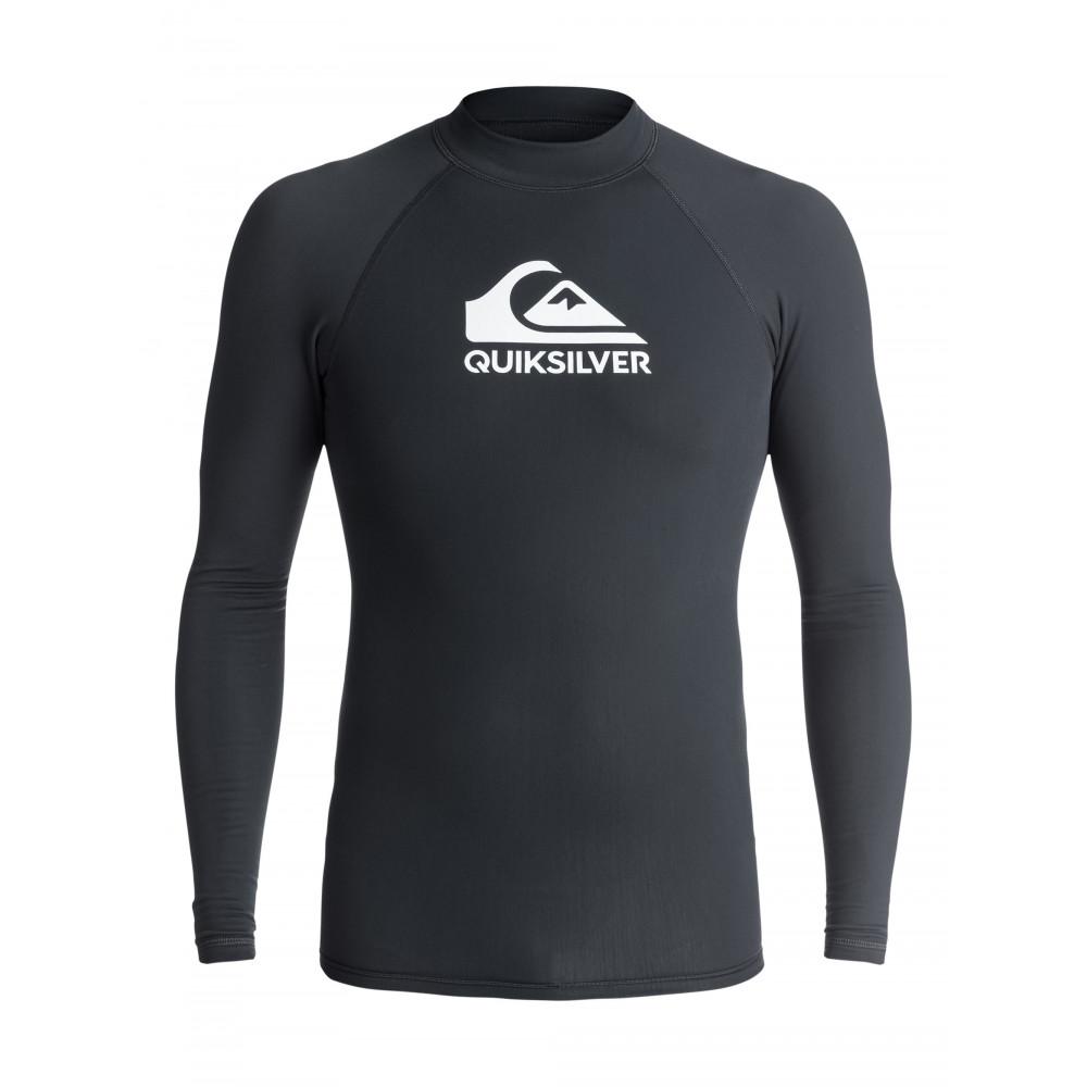 Lycra Quiksilver Heater Longsleeve Rash Vest (Black) Ss18