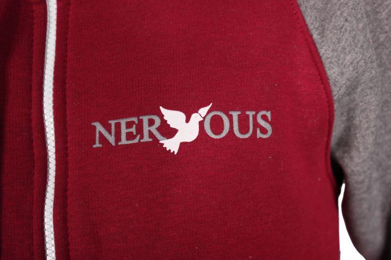 Bluza Nervous Zip Classic Sp14 (Burgundy/Grey)