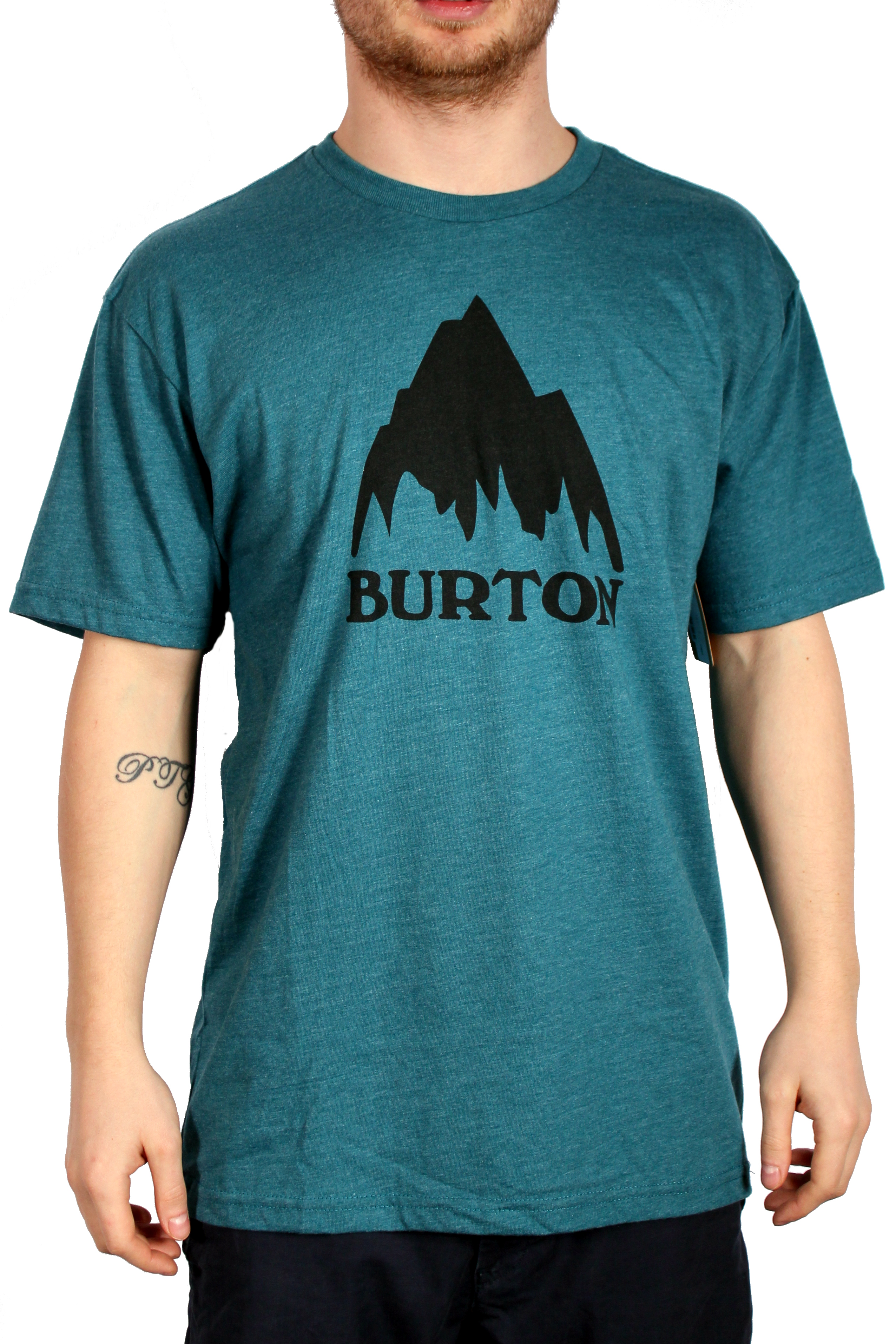 Koszulka Burton Mountain Logo (Heather Cerulean)