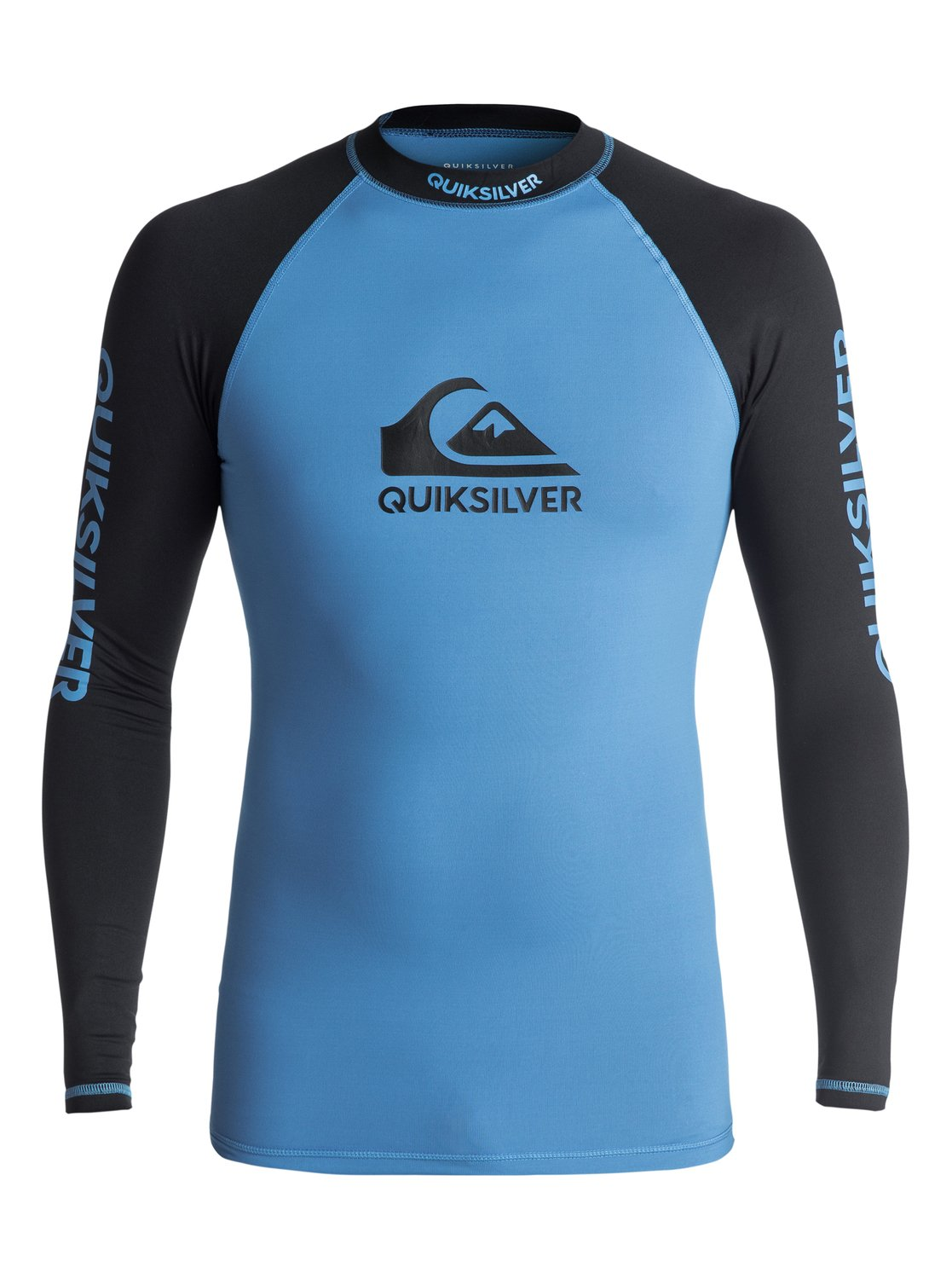 Lycra Quiksilver On Tour Long Sleeve Rushguard (Brilliant Blue / Black) Ss18
