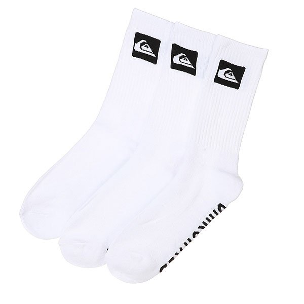 Skarpety Quiksilver Crew 3-pack (White)