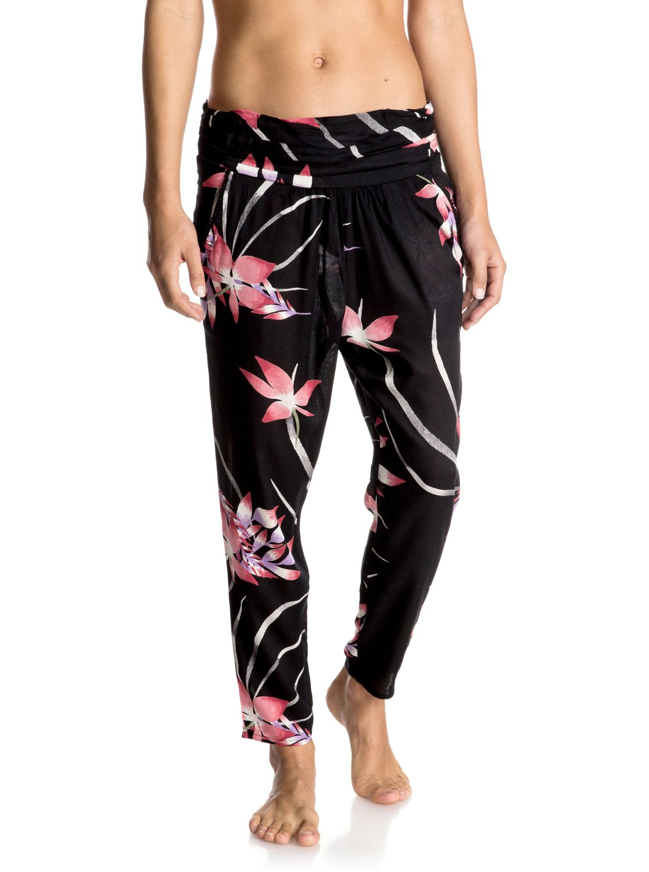 Spodnie Roxy Ultra Violet Printed Jogger Pants (Anthracite Mistery Floral) Ss17