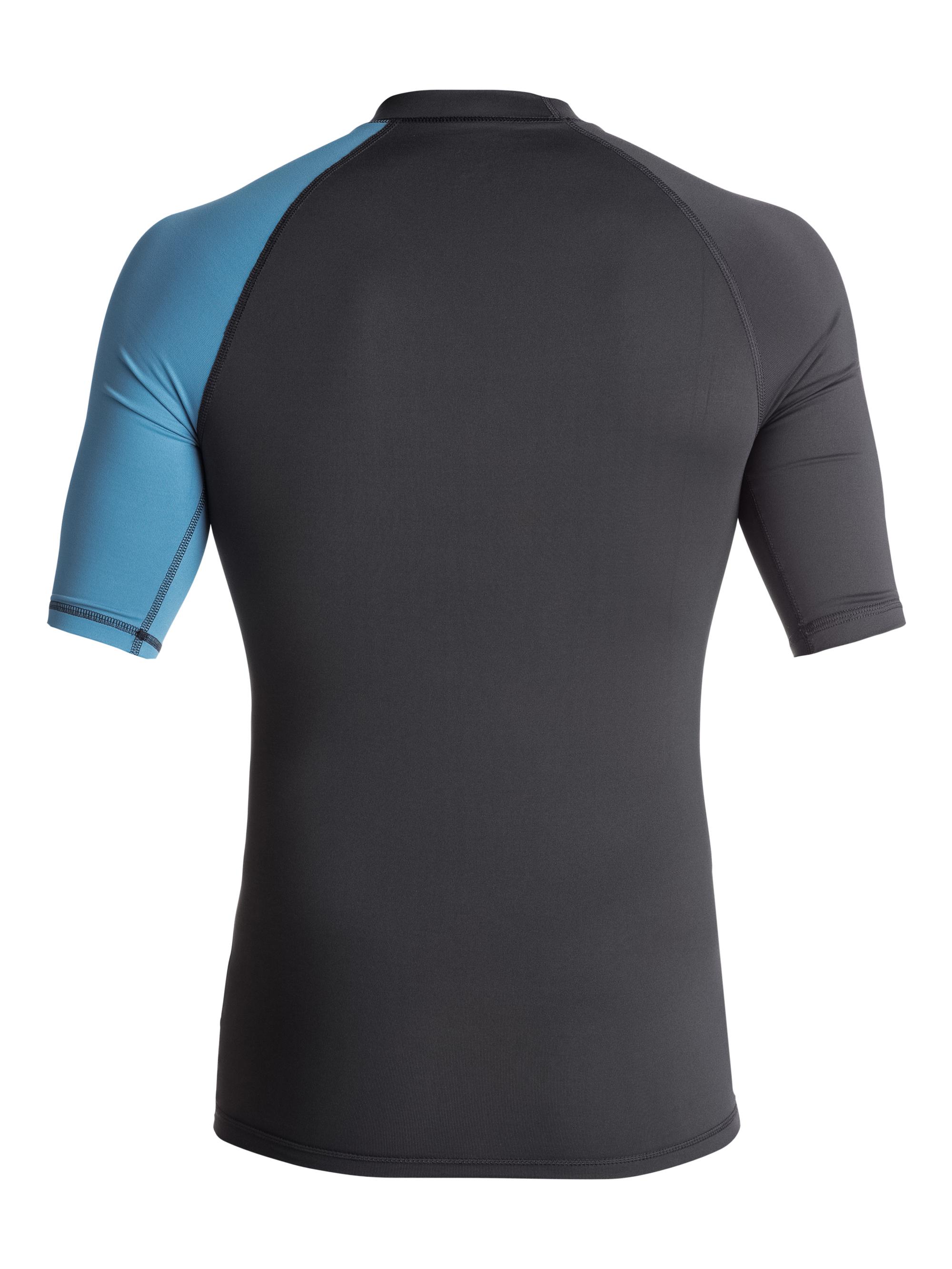 Lycra Quiksilver Active Shortsleeve Rashguard (Tarmac / Cendre Blue) Ss18