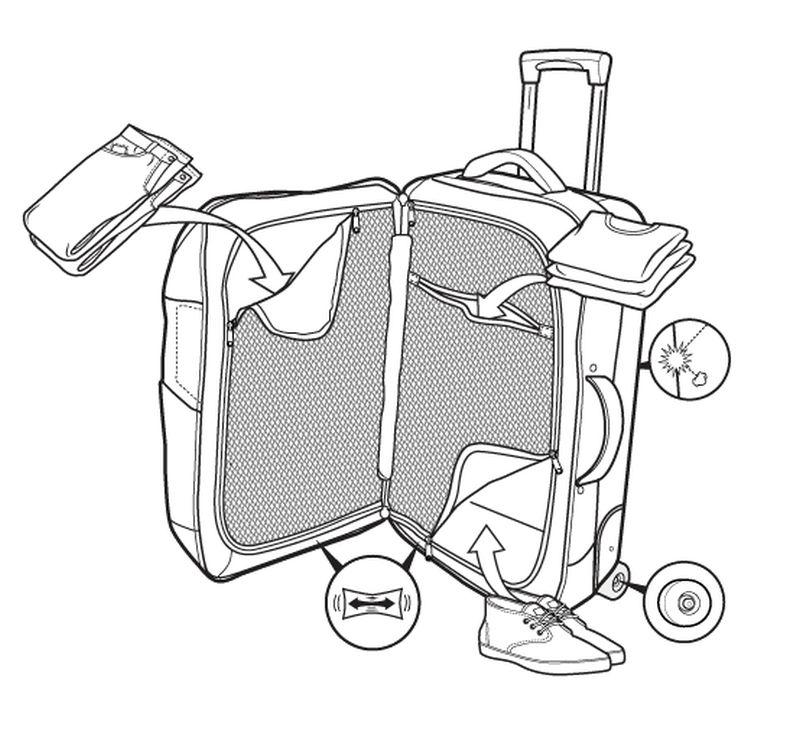 Walizka Burton Wheelie Flight Deck (Texture Stripe)