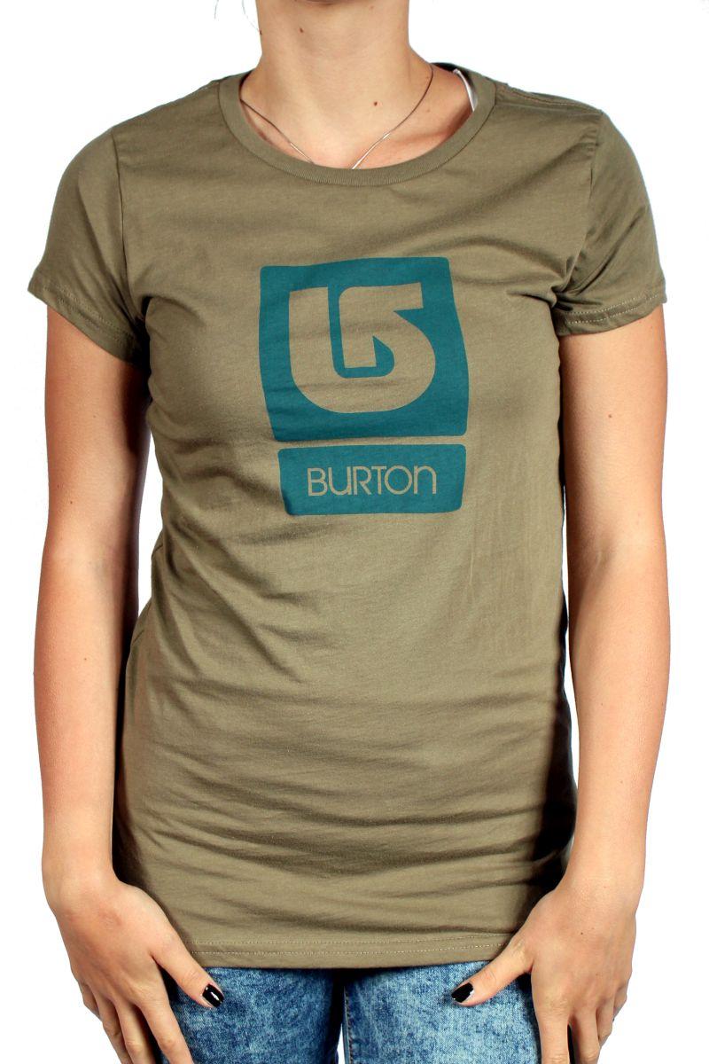 Koszulka Damska Burton Logo Vertical Fll (Dusky Green)