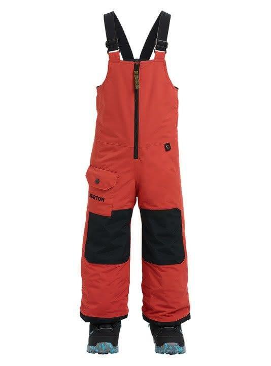 Dziecięce Spodnie Snowboardowe Burton Boys Minishred Maven Bib (Hot Sauce) W19