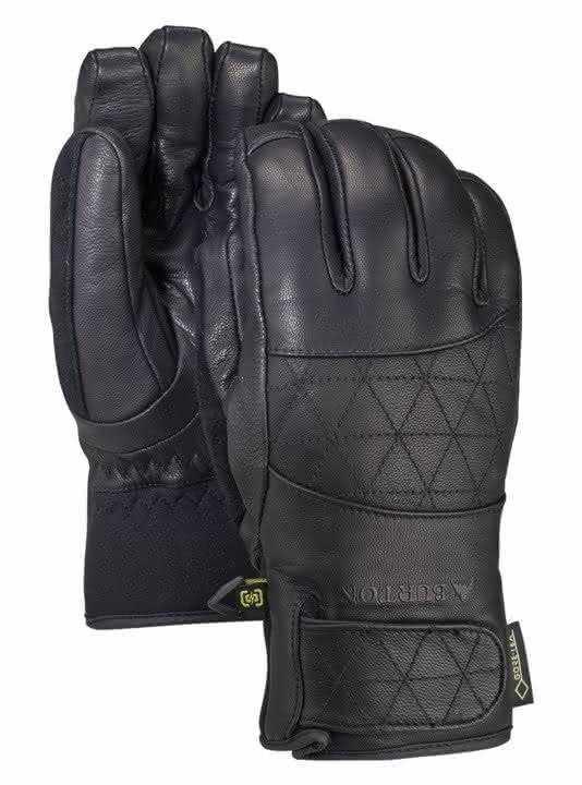 Damskie Rękawice Snowboardowe Burton Gondy Gore Leather (True Black) W19