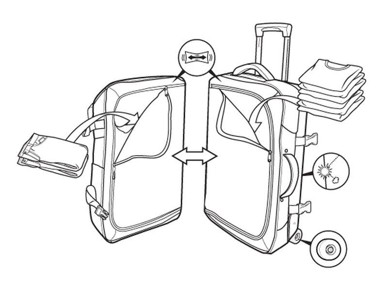 Walizka Burton Wheelie Double Deck (Vista Plaid)