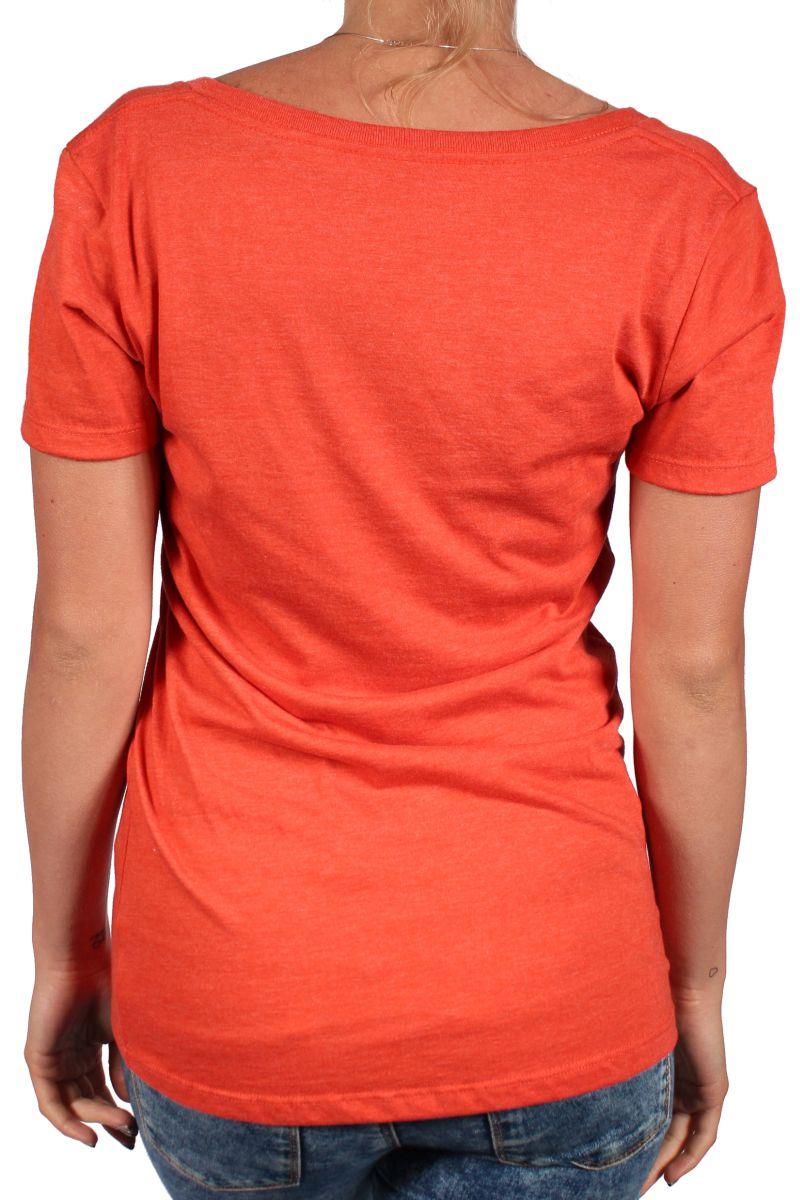 Koszulka Damska Burton Logo Vertical Fll Vneck (Red Clay)