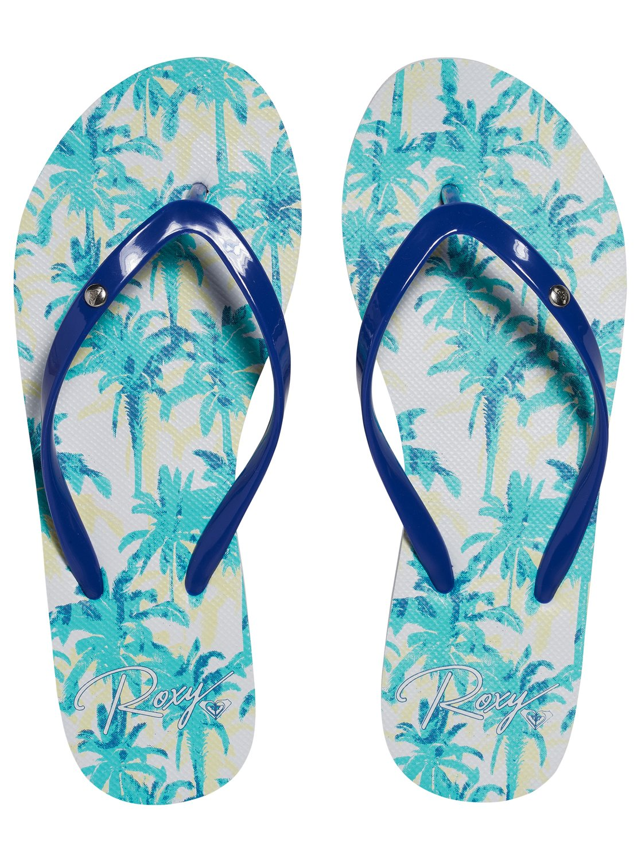 Japonki Damskie Roxy Portofino (Blue / Print)
