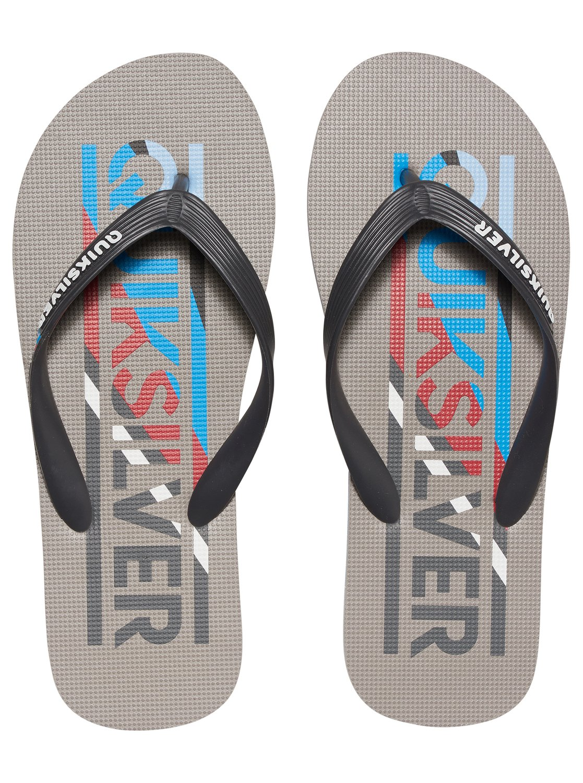 Japonki Męskie Quiksilver Molokai Wordmark (Grey / Grey / Blue) Ss17