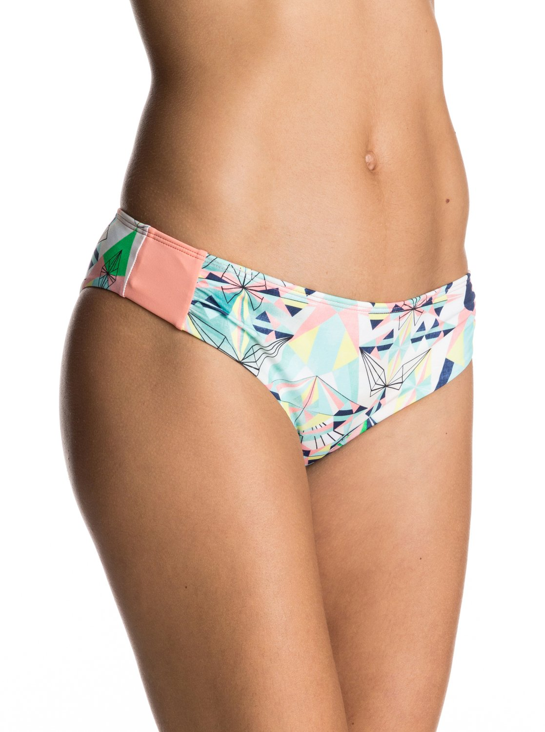 Dół Od Bikini Roxy Keep It Scooter Bikini Bottoms (Marshmallow Psyche Palm Repeat) Ss17