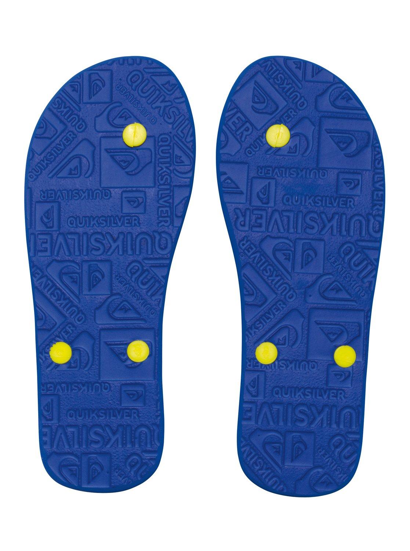 Japonki Męskie Quiksilver Molokai Wordmark (Blue Yellow Blue)
