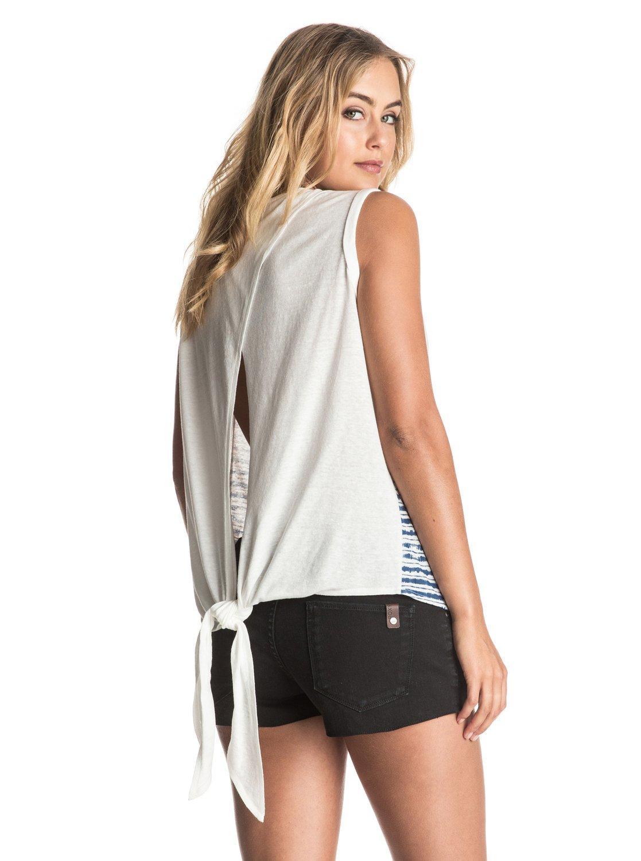 Koszulka Damska Roxy Smoothie Knot Tropical Thing (Marshmellow) Ss17