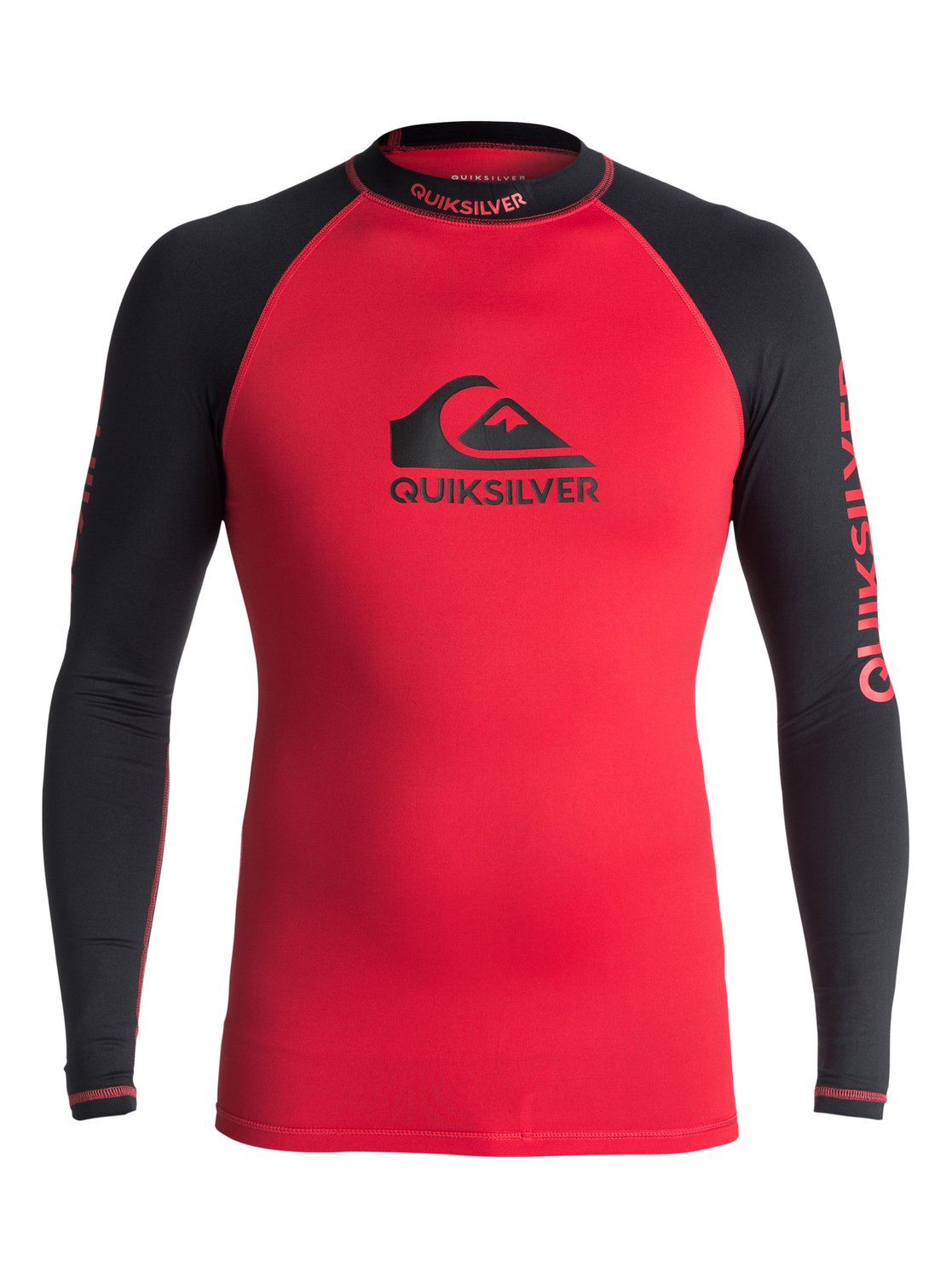 Lycra Quiksilver On Tour Long Sleeve Rushguard (Quik Red) Ss18