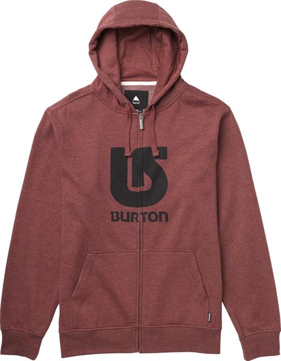 Bluza Burton Logo Fz Vertical (Oxblood)