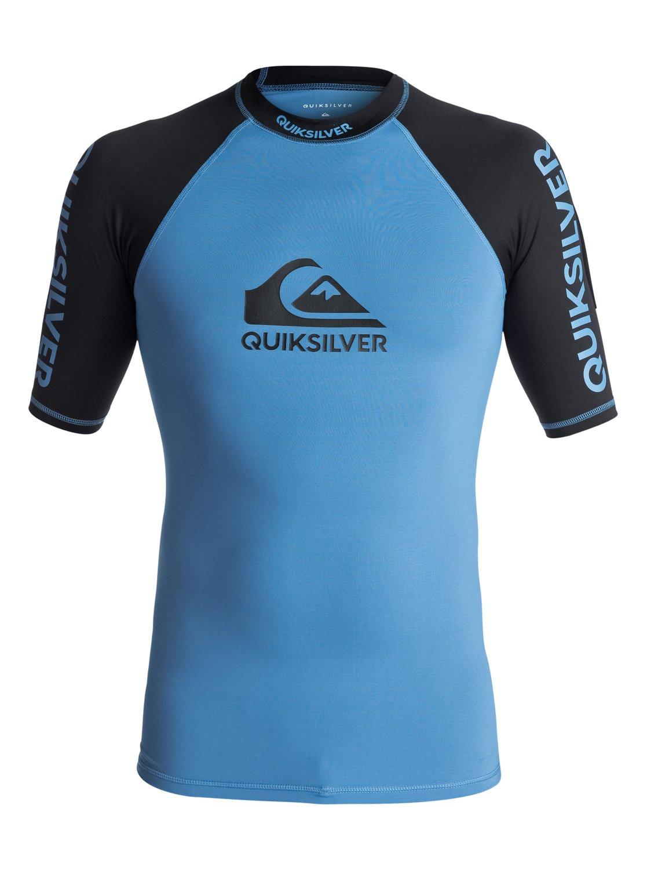 Lycra Quiksilver On Tour Shortsleeve Rashguard (Brilliant Blue / Black) Ss18