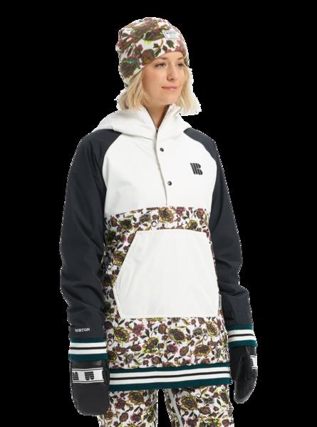 Damska Kurtka Snowboardowa Burton Loyle Anorak (True Blacks/Stout White/Whit Floral) FW20