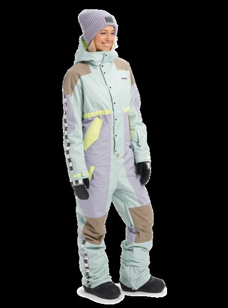 Damski Kombinezon Snowboardowy Burton Loyle (Aqua Gray/Lilac Gray/Timber Wolf/Sunny Lime) FW20