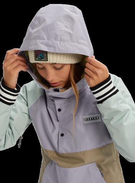 Damska Kurtka Snowboardowa Burton Loyle Anorak (Aqua Gray/Lilac Gray/Timber Wolf/Sunny Lime) FW20