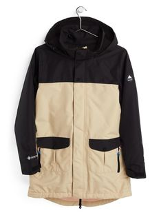 Damska Kurtka Snowboardowa Burton GORE‑TEX Eyris (True Black/Irish Cream) FW21