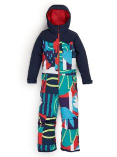 Dziewczęcy Kombinezon Snowboardowy Burton Game One Piece (Graphic Mix/Dress Blue) FW21