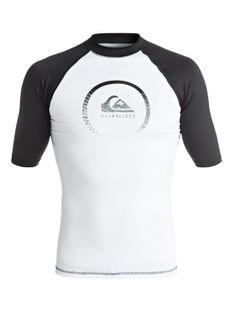 Lycra Quiksilver Active - Short Sleeve Rash Vest (White / Black) Ss17
