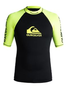 Lycra Quiksilver On Tour Shortsleeve Rashguard (Safety Yellow / Black) Ss18