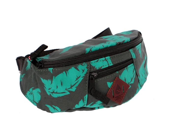 Nerka Turbokolor Lip-bag (Green/Palm Print)