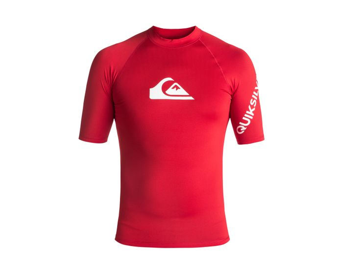 Lycra Quiksilver All Time Short Sleeve Rushguard (Quik Red) Ss18